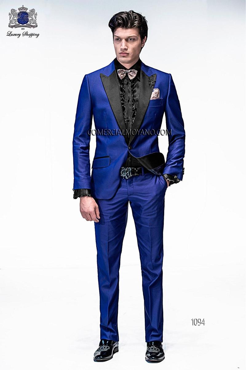 Costume Homme Mariage Wedding Suit Blue Slim Suit 2015 Men Tuxedos Mens Suit Groomsmen Suit