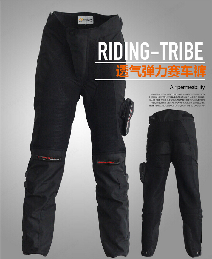 Summer motorcycle riding tribe ride pants off road automobile race pants net fabric breathable wear resistant