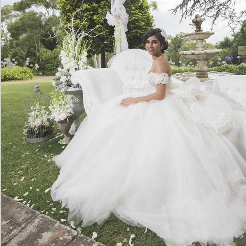 Vestido de noiva mariage ball gown organza wedding dresses for Country western wedding dresses