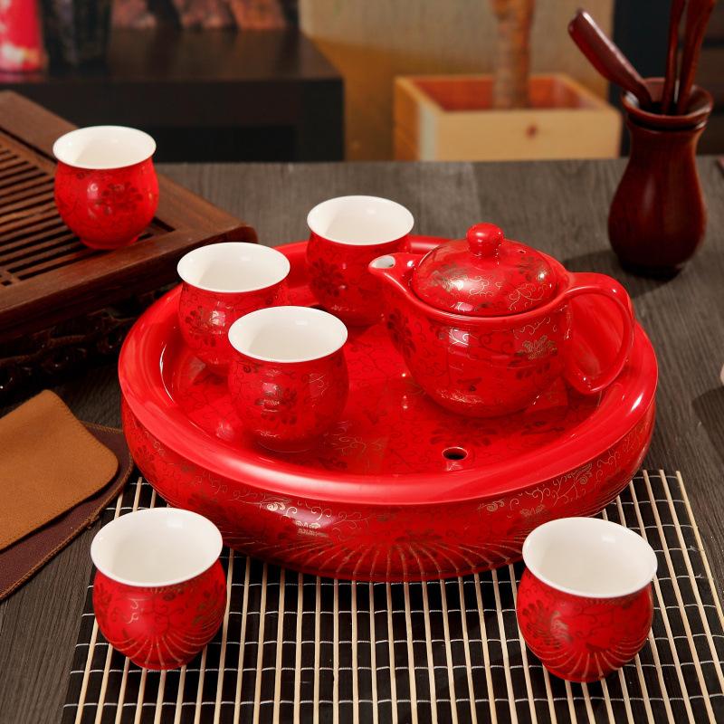 Jingdezhen household tea tea insulation cup ceramic tea set wedding gifts custom manufacturers wholesale(China (Mainland))