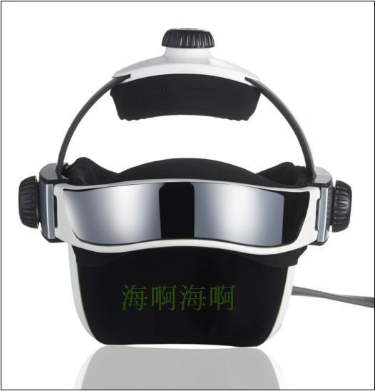 Music electric Head and scalp massager brain massage improves sleep Body vibration machine Massage pillow free shipping(China (Mainland))