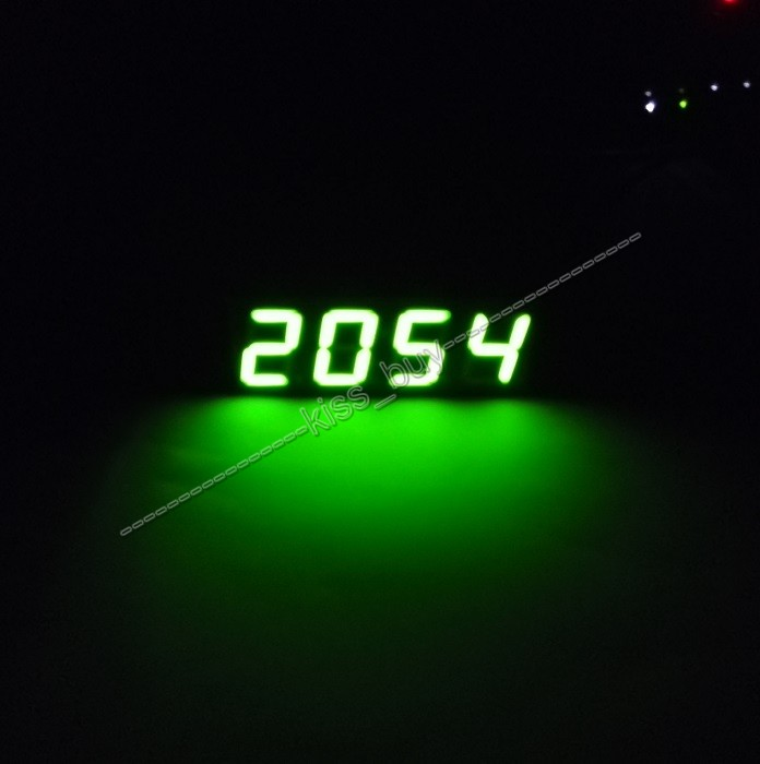2015 new DS1302 Digital Tube LED Electronic Clock MCU Time module + Thermometer for 12v 24V car(China (Mainland))