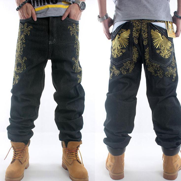 hip hop black men jeans baggy style hiphop pants boy ad