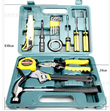 The car spare car 12 sets of household car repair kit auto emergency tool kits(China (Mainland))