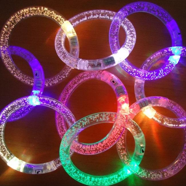 Light-Up Acrylic Bracelets Wristbands LED Flashing Rave Multicolor Party Accessory(China (Mainland))