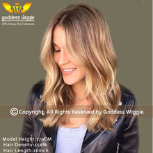 5A 150Density Blonde Balayage Human Hair Wigs Remi Wavy Lace Front Wigs Glueless Full Lace Remi Hair Wigs For Women(China (Mainland))