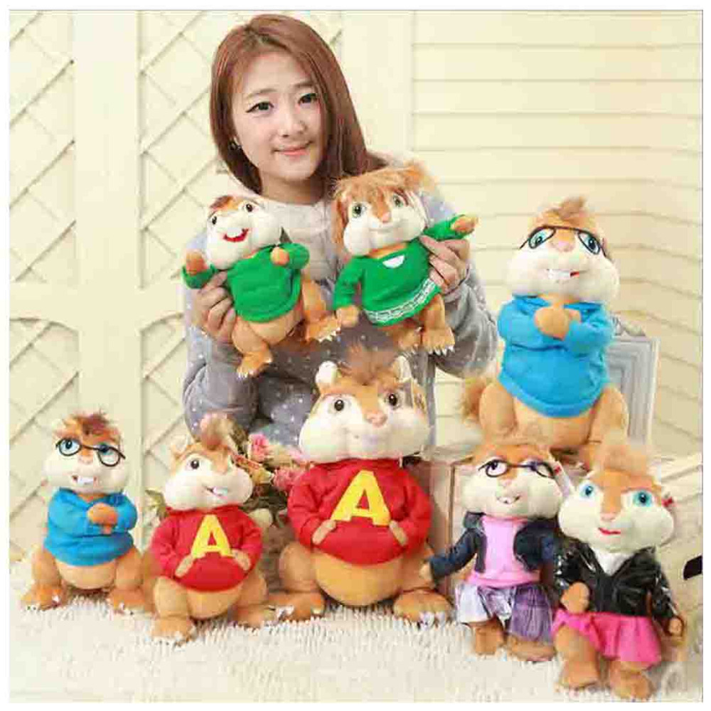 35cm Alvin And The Chipmunks Toys 6 styles Plush Soft Stuffed Animal Doll Toy