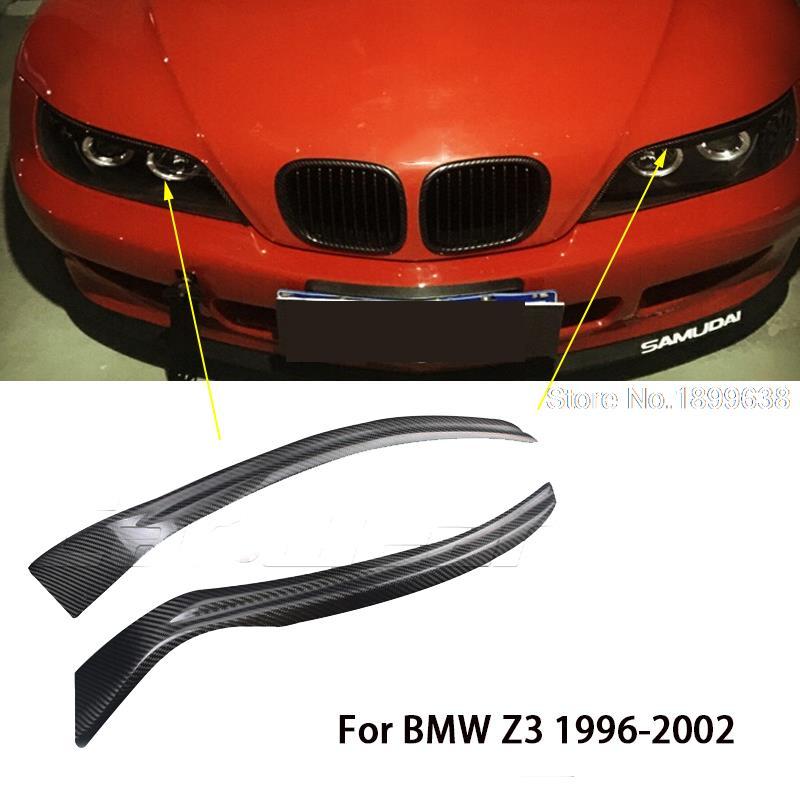 100 real carbon fiber headlights eyebrows eyelids for bmw z3 1996 1997 1998 1999 2000 bmw z3 1996 side aa