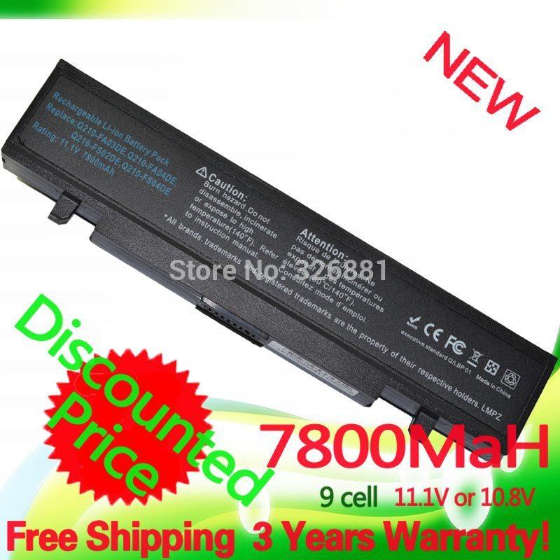 11.1v/10.8v  7800mAh High-Quality R700 R710 R718 R720   Battery For Samsung R523 R525 R528 R530 R560 R580 R581 R590 R610 R620<br><br>Aliexpress