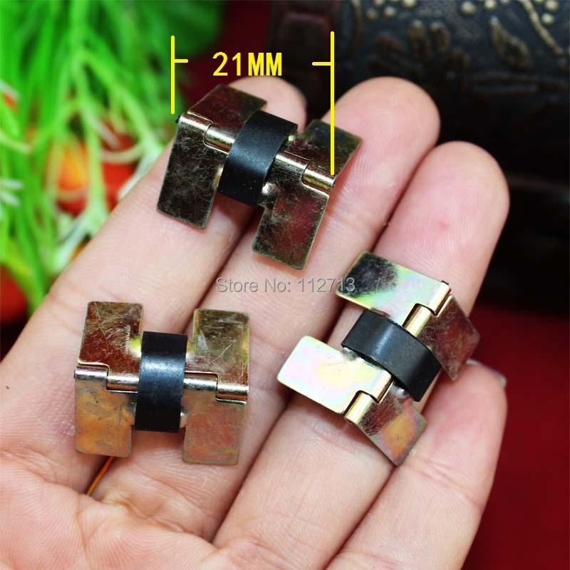 21 * 13MM hinge gift box jewelry box hinge ring box small spring hinge hinges for metal cabinet(China (Mainland))