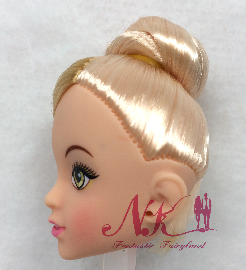 NK One Pcs Doll Trend Doll Head Golden Hair DIY Equipment For Barbie Kurhn Doll Greatest Woman' Reward Youngster DIY Toys 024F