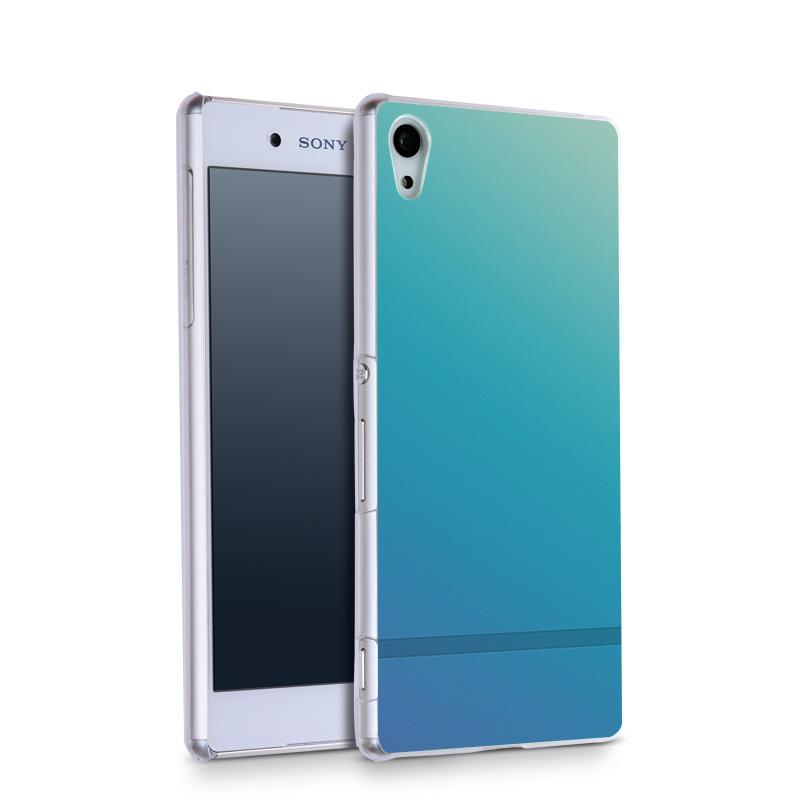 Turquoise Soft Gradient Line Wallpaper.jpg Plastic Protective Shell Skin Bag Case For Z5c z5 z2 z3 z4 Cases Hard Back Cover(China (Mainland))