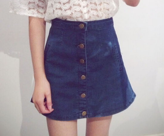 Elegant Mini Short Denim Skirt Female Women Cowboy Skirtsin Skirts From Women