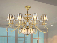 Buy D950mm 8L Brass Candle Chandelier AC90-260V Glass Lampshade Copper Material Chandelier Living Room Chandelier Free for $628.69 in AliExpress store