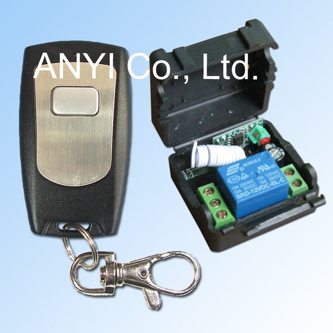 DC12 Volt 1 Channel Wireless Remote Control Switch System,Electric Equipment/Lamp Power Button/key Rocker Toggle Mode(China (Mainland))