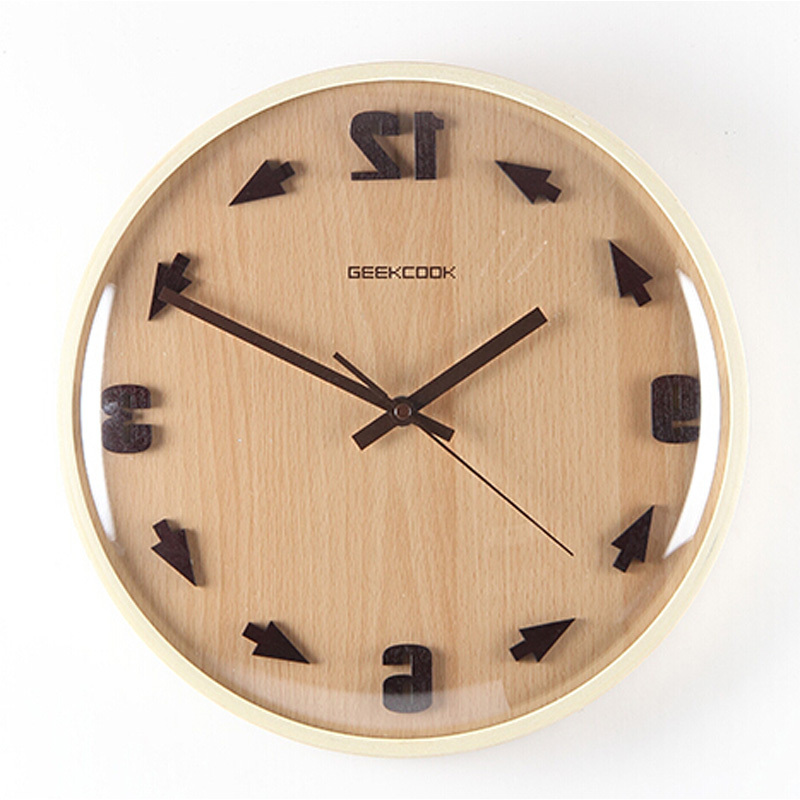 Creative Large Decorative Wall Clock Modern Design Round