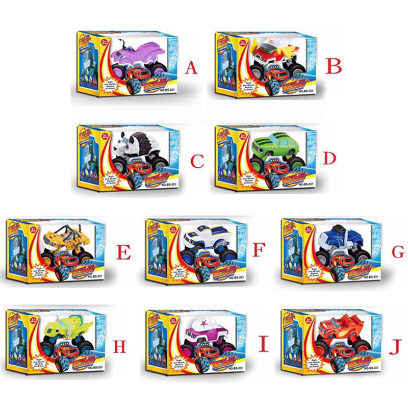2016 New Blaze Car Trucks Model Hot Sale Monsters Machines Racing Car Toys Mud Racin Pickle Darrington Zeg Crusher Stripes Toys(China (Mainland))