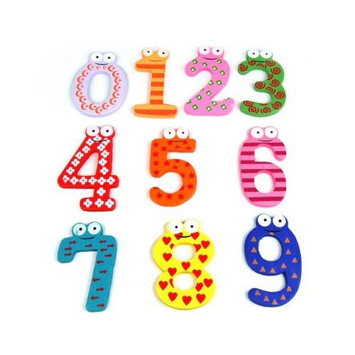 Fun Kid Arabic Magnetic Numbers Wooden Fridge Magnets for Kids Educational toys(China (Mainland))