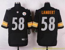 Men's free shiping A+++ quality Pittsburgh Steelers #58 Jack Lambert Elite(China (Mainland))