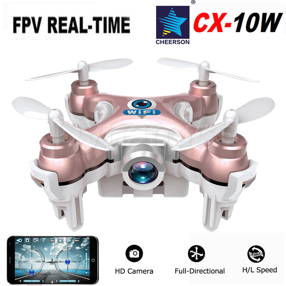RC Quadcopter Cheerson CX-10W CX10W Wifi FPV 0.3MP Camera LED 3D Flip 4CH CX10 Update Version Mini Drone BNF Helicopter Toy Gift<br><br>Aliexpress