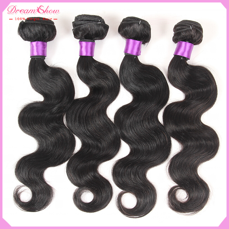 Indian Virgin Hair Body Wave Cheap Unprocessed Human Hair 100g Bundles Indian Body Wave Virgin Hair 4Pcs Lot Indian Body Wave(China (Mainland))