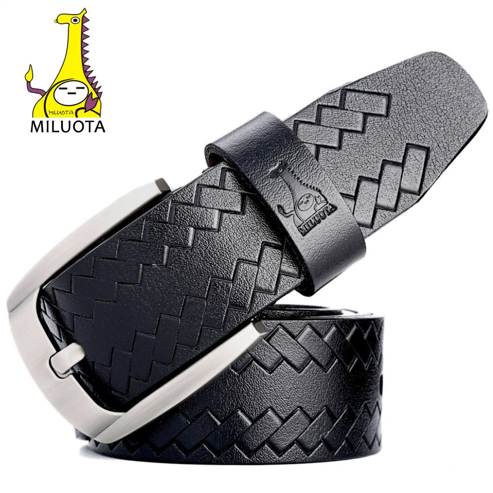 [MILUOTA] 2016 Fashion Belts for Men Cow Genuine Leather Luxury Strap Male Pin Buckle Vintage Belt Man MU061(China (Mainland))