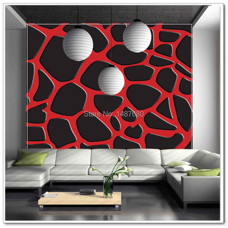toute taille rouge et noir g om trique taches de motif. Black Bedroom Furniture Sets. Home Design Ideas