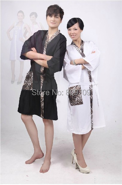 1pcs Professional Hairdressing Kimono Beauty SPA Gown Robe Hair Capes Leopard Styling Barber Salon Hairdresser Wrap Cloth(China (Mainland))