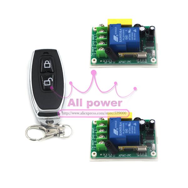 free shipping AC 220v 30A relay 1CH 315MHz wireless RF Remote Control Switch Transmitter+ Receiver 220V 1CH Radio remote control<br><br>Aliexpress