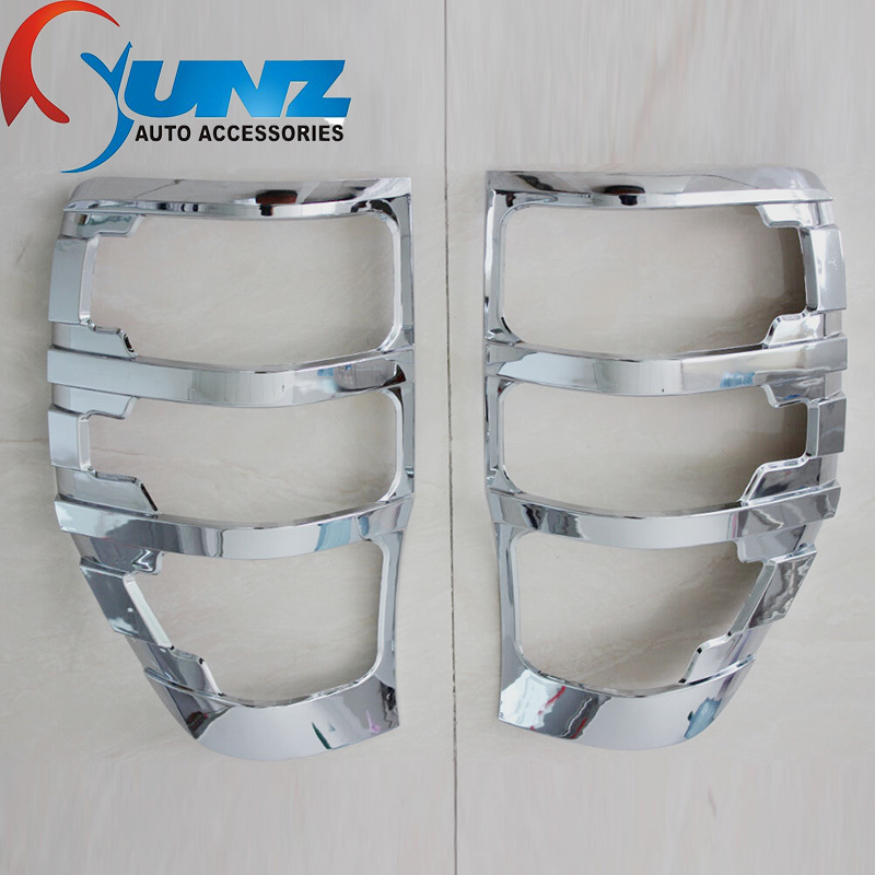 Chrome Strips For Ford Ranger T6 Accessories Tail Lights Covers Lamp Trim For Ford Ranger T6