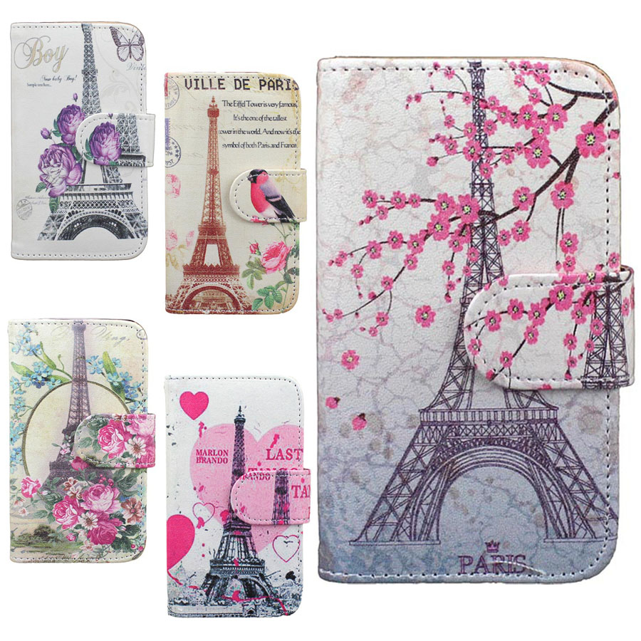 New Butterfly Paris Tower Wallet Flip Leather Stand Card Holder Case Cover For Apple iPhone 4G 4S Back Hard Shell Phone Cases(China (Mainland))