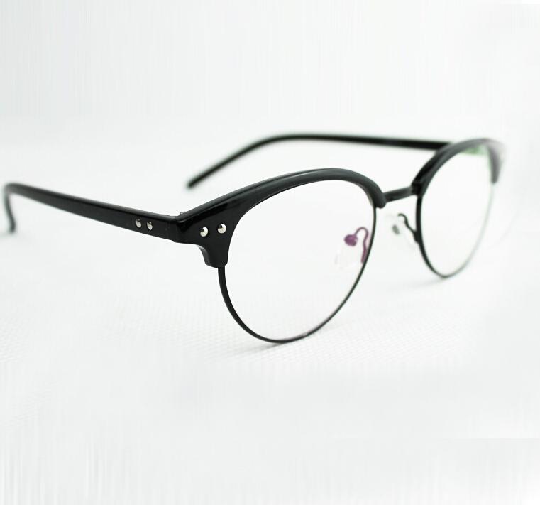 Rimless Round Eyeglass Frames : Sale-2015-Brand-Unisex-Metal-Semi-Rimless-Men-round ...