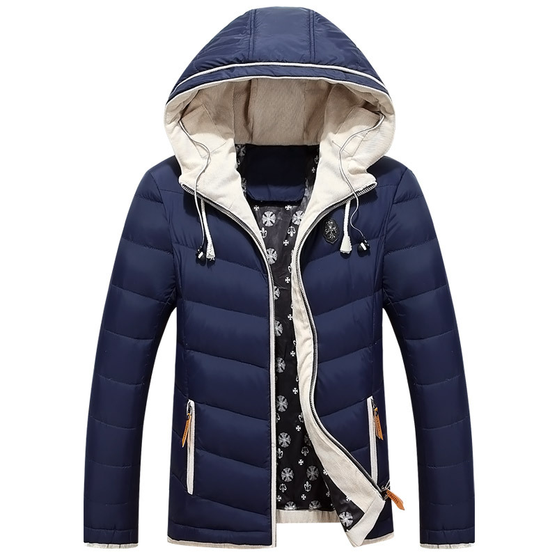 Фотография New 2015 Winter Down Jacket Men Fashion Brand Man Coat Thick Fur Coats Jackets Warm Men