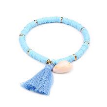 Artilady Multicolor Friendship Bracelets Shell Charm Bracelet Tassel Boho Rope Women Jewelry Gift Drop Shipping(China)