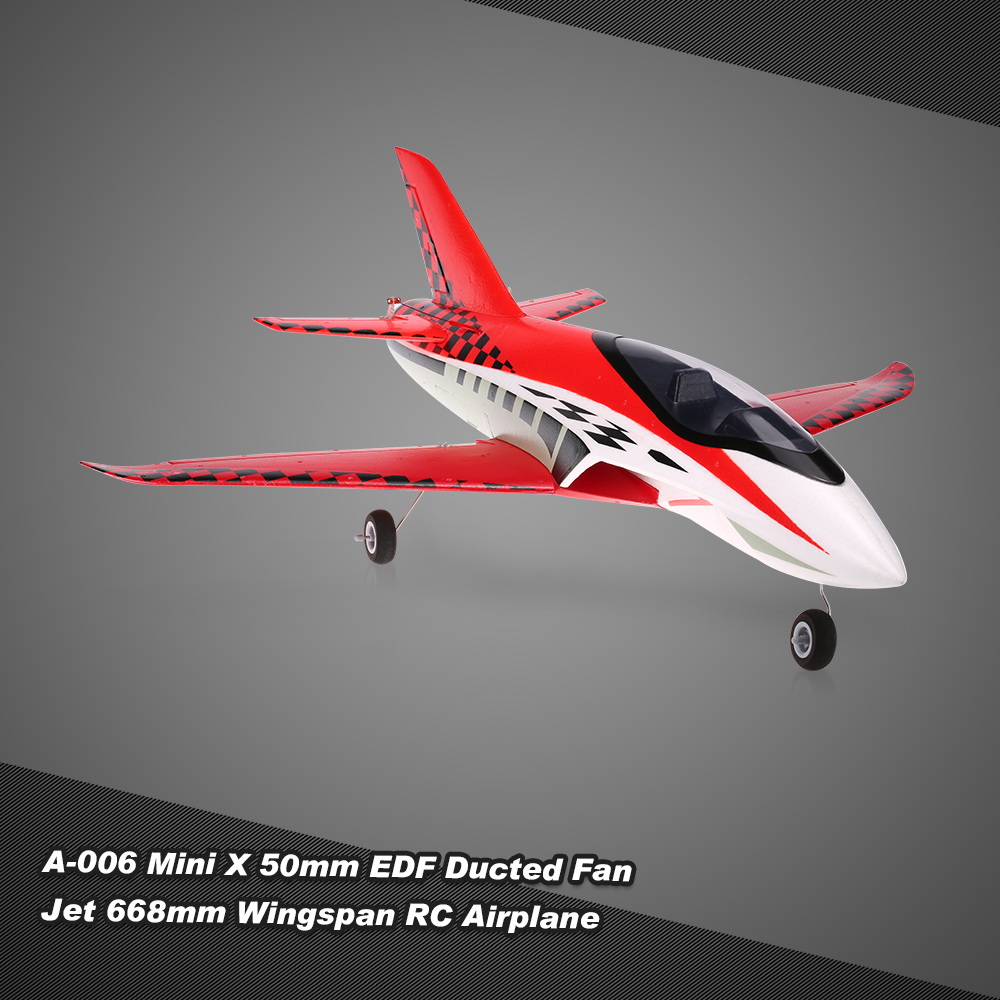 A-006 Mini X 50mm 5 Blade EDF Ducted Fan Jet 668mm Wingspan RC Airplane Drone PNP Edition with Motor ESC Servo(China (Mainland))