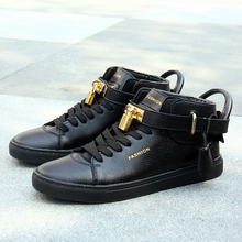 new style shoes high help couples leisure shoes for men shoes right Zhilong with Gd leather metal lock gz shoes(China (Mainland))