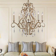 Europen style iron chandelier crystal lamps lustre foyer chandeliers ,3 lights/6 lights/8 lights home lighting(China (Mainland))