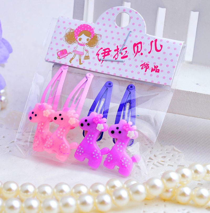 Flower Hair Clip Kids Bow Headdress Cartoon Head Barrettes Princess Accessories Child hairpin 4 pcs lot(China (Mainland))