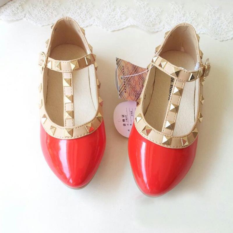 Весна и лето искусственная кожа принцесса обувь девочка