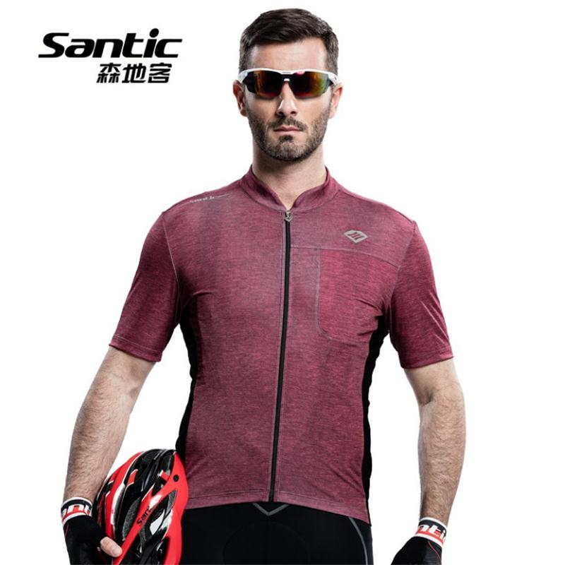 Santic Men Bicycle Bike Cycling Jerseys 2016 New Listing Bike top Short Sleeve Breathable Zipper Jersey Ropa Ciclismo(China (Mainland))