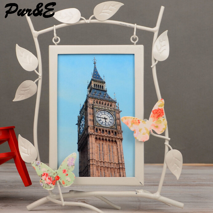 fashion iron europe photo frame oranments modern style butterfly tree home accessories creative gifts crafts HDC440 - Pur&E Co., Ltd. store