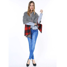 2015 New Arrival Famous Brand Thick And Warm Oversize Tartan Ladies Shawl Warp Scottish Style Blanket Plaid Scarf For Women