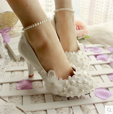 Crystal Princess Shoes 3/4.5/6//8.5/11CM Rhinestone Wedding HIgh Heels Appliques Bride Flower Pump s - I'm with you store