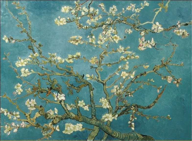 Wooden Jigsaw Puzzles 1000 Pieces High Quality Educational Toys 75*50cm Famous Paintings DIY Almond Blossom(China (Mainland))