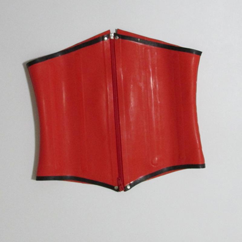 2015 new fashion Red waist training latex corsets for women gummi 1mm 100% natural rubber bustier underbust plus size hot saleÎäåæäà è àêñåññóàðû<br><br>