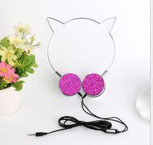 น่ารักการ์ตูนหูฟัง Cat Ear ซับวูฟเฟอร์สายควบคุมหูฟังพร้อมไมโครโฟนของขวัญสำหรับหญิงและเด็กโท...(China)