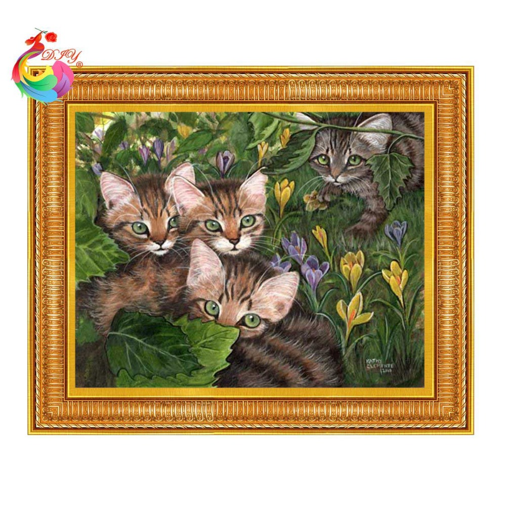 Mosaics diamond 5d diamond embroidery picture with rhinestones diamonds art Picture of sequins Diamond mosaic cat 5d picture(China (Mainland))