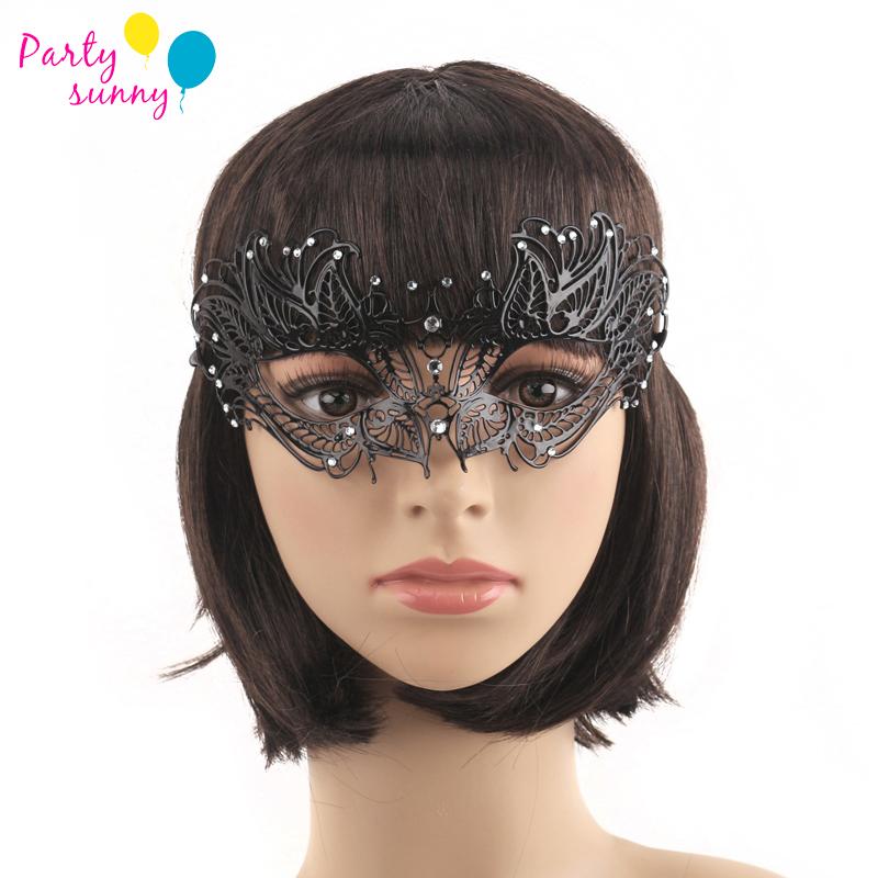Mardi Gras Fashion Metal Party Masks diomand Hollow Masks Masquerade Party Supplies Girls Woman Rhinestone Mask Prom M123(China (Mainland))