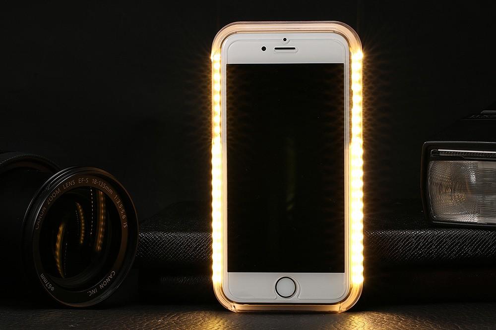 LED Light Flash Selfie Phone Case For iPhone 6 6s plus 5s SE Samsung Galaxy s6 s6 Edge s7 s7 Edge Lumee Case Self Cover Funda