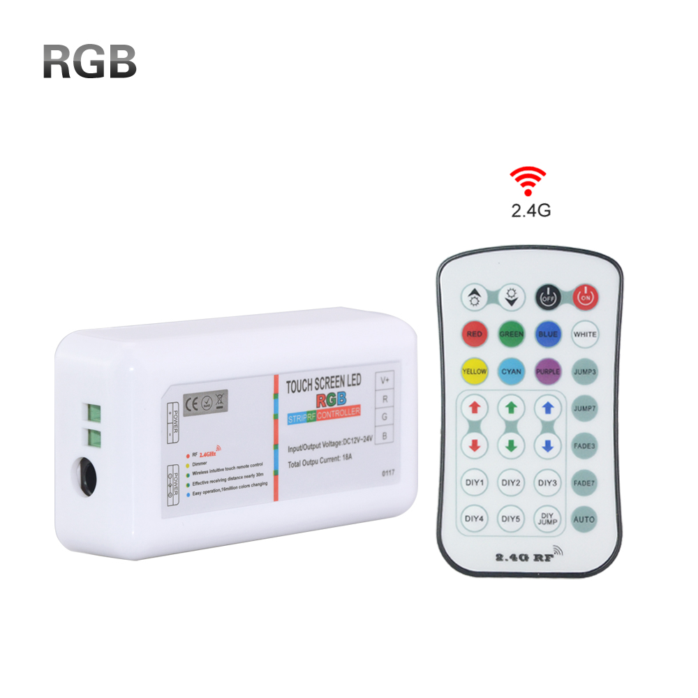 2.4G Wireless Wifi RF RGB remote led controller DC12-24V 18A touch screen wifi led control for 5050 rgb led strip tape light()
